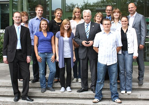 Landrat Thomas Hendele begrüßte zwölf neue Azubis